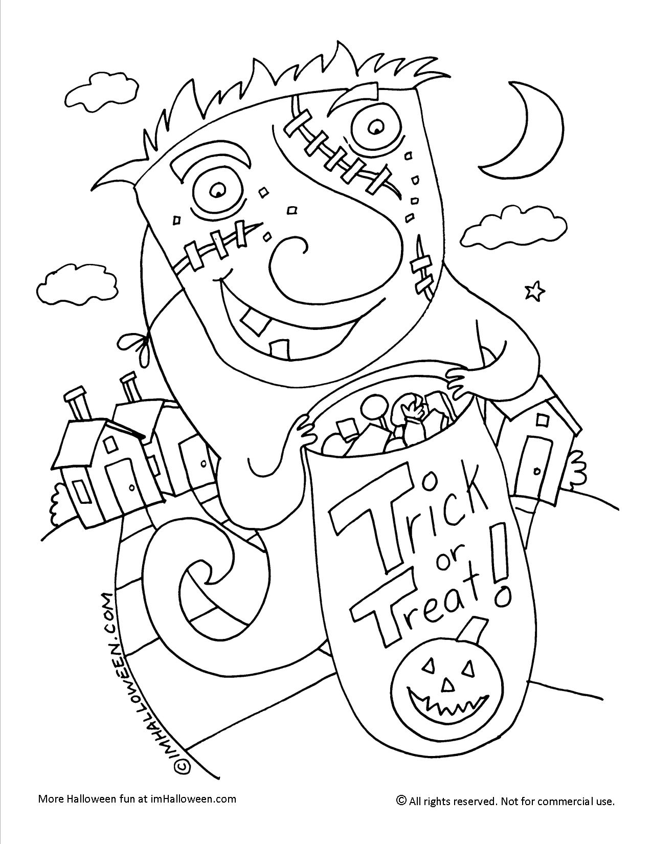 Trick-or-Treat Coloring Page
